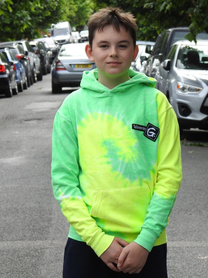 lime green and black tie dye hoodie