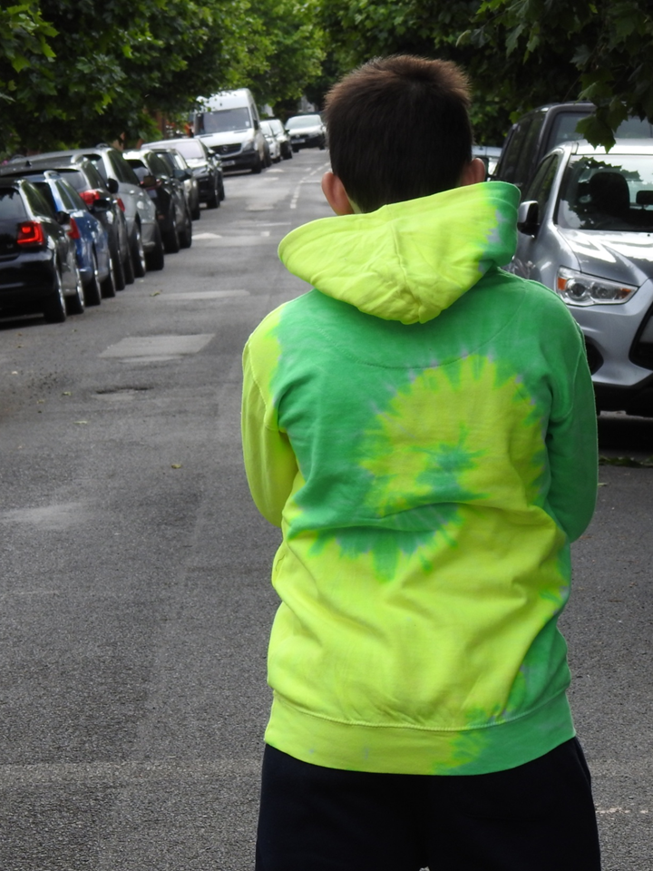 Tie Dye Hoodie Yellow and Green